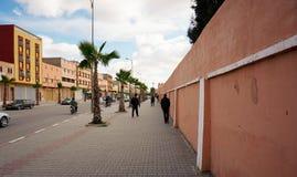 Rues dans Biougra, Agadir, Maroc image stock