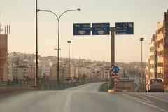 Rues dans le début de la matinée à Amman, Jordanie Image stock