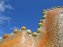 Rues de bâtiments de Barcelone et beauté de ville d'Antoni Gaudi Photographie stock libre de droits