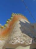 Rues de bâtiments de Barcelone et beauté de ville d'Antoni Gaudi Photos libres de droits