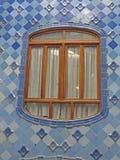 Rues de bâtiments de Barcelone et beauté de ville d'Antoni Gaudi Photo stock