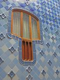 Rues de bâtiments de Barcelone et beauté de ville d'Antoni Gaudi Photo libre de droits