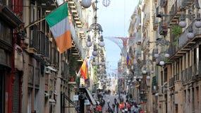 Rues de Barcelone Photographie stock libre de droits