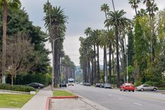 Rues de Beverly Hills, la Californie photo libre de droits