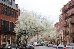 Rues de Boston Images libres de droits