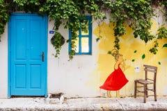 Rues de Bozcaada, Turquie images stock