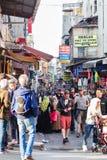 Rues de Crowdy Istanbul Photos stock