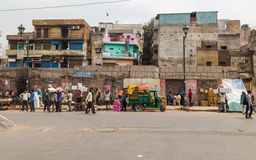 Rues de Delhi, Inde Photos stock
