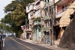 Rues de Favela Vidigal en Rio de Janeiro photo stock
