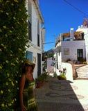 Rues de Frigiliana, Espagne, Costa del Sol photos stock