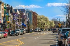 Rues de Georgetown dans le Washington DC Photo libre de droits