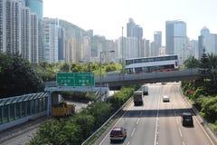 Rues de Hong Kong Images libres de droits