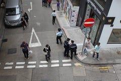 Rues de Hong Kong d'en haut Photo stock