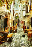 Rues de la Croatie Photographie stock libre de droits