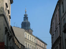 Rues de la Pologne Cracovie Photo stock
