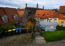 Rues de la vieille ville de Landsberg am Lech photo libre de droits