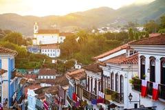Rues de la ville historique Ouro Preto Brésil Photos libres de droits