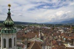 Rues de la ville suisse Solothurn photos libres de droits