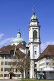 Rues de la ville suisse de Solothurn images stock