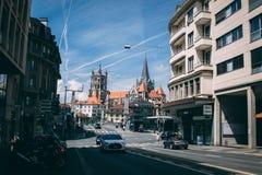 Rues de Lausanne photos stock