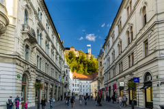 Rues de Ljubljana Photos libres de droits