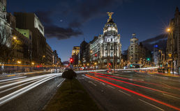 Rues de Madrid Photographie stock libre de droits
