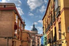 Rues de Madrid images libres de droits