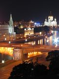 Rues de Moscou de nuit. Images libres de droits