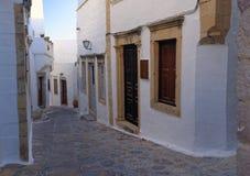 Rues de Patmos Photos libres de droits