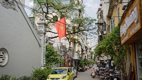 Rues de quartier français à Hanoï photo libre de droits