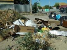 Rues de rebut de ville de pollution photos libres de droits