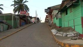 Rues de São Carlos au Nicaragua banque de vidéos