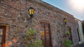 Rues de Sacramento de del de Colonia, Uruguay Photos libres de droits