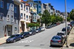 Rues de San Francisco Telegraph Hill Photos stock