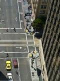 Rues de San Francisco vues d'un grattoir de ciel Images libres de droits