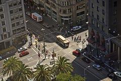 Rues de San Francisco vues d'un grattoir de ciel Photo stock