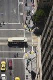 Rues de San Francisco vues d'un grattoir de ciel Images stock