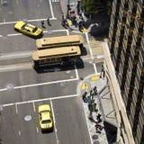 Rues de San Francisco vues d'un grattoir de ciel Image libre de droits