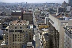 Rues de San Francisco vues d'un grattoir de ciel Photographie stock