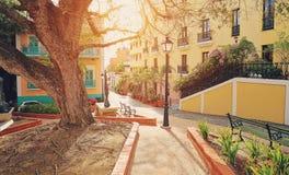 Rues de San Juan, Porto Rico Image stock