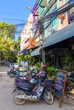 Rues de Siem Reap, Cambodge images stock