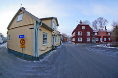 Rues de Sigtuna, Suède Photos stock