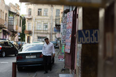 Rues de Tbilisi, la Géorgie Images libres de droits