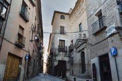 Rues de Toledo en date il y a de 5 siècles Images libres de droits