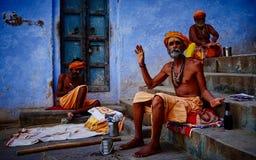 Rues de Varanasi Images libres de droits