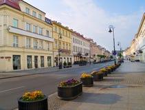 Rues de Varsovie, Pologne Images libres de droits