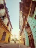 Rues de vieille Havana Cuba Photographie stock