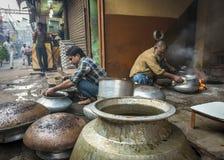 Rues de vieux Delhi, Inde Photographie stock