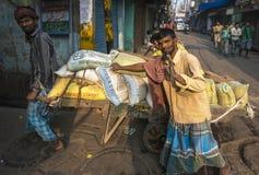 Rues de vieux Delhi, Inde Image stock