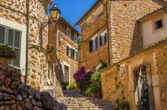 Rues de village de Fornalutx Photos libres de droits
